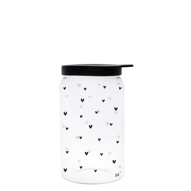 Voorraadpot Siliconen Deksel | X Small 12x6 | Hearts | Bastion Collections