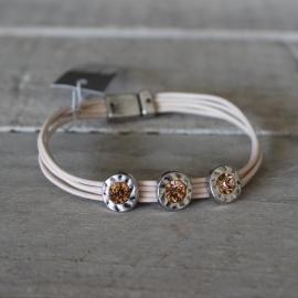 Armband Biba Antiek Zilver Roze