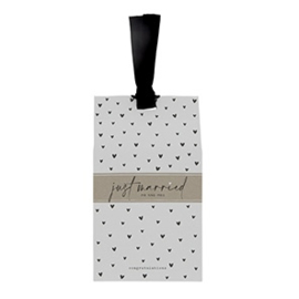 Gift Bag met Pepermunt Hartjes | Just Married | Bastion Collections