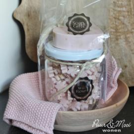 Soap & Giftset | Wild Roses | Pot Minizeepjes & Zeephanger Mandela