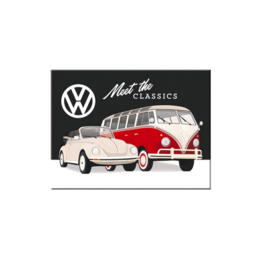 VW Magneet | 6x8 cm | Meet the Classics