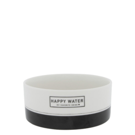 Waterbak Hond | Happy Water | Wit/Zwart | Bastion Collections