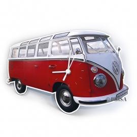 VW Classic | Wandklok | Rood