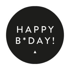 Stickers | Happy B-day Zwart | Set 10