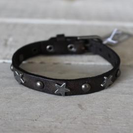 Armband Biba Studs Sterren Grijs/Bruin