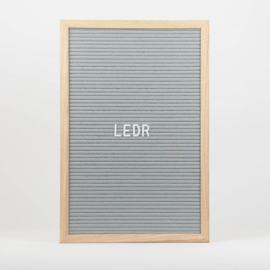Letterboard L | 30 x 45 | Grijs - Hout