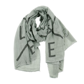 Shawl | LOVE | Army Groen