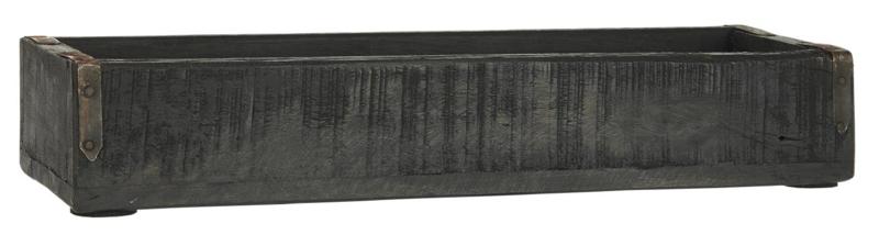 Box w/Metal Brackets UNIQUE   Zwart   35x6x11,5 cm IB Laursen