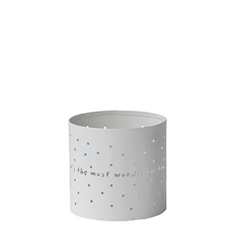 Tealight Winter Dots Wonderful Time  | Small | Bastion Collections