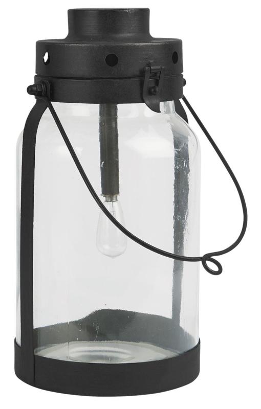 LED Lantaarn met Metalen Bodem   Large   IB Laursen