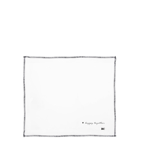 Servet Linnen | White Happy Together | 50x50 cm | Bastion Collections