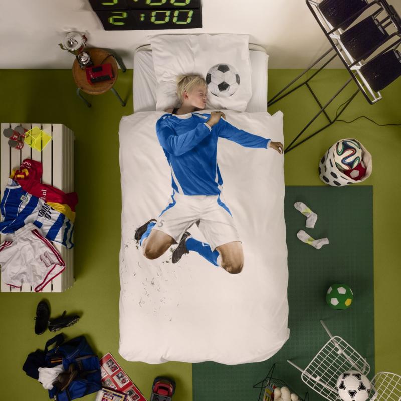 Dekbedovertrek   Voetbalkampioen   Blauw   SNURK