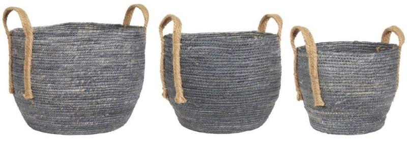 Basket Set   3 stuks   Dusty Blue   Uitverkocht