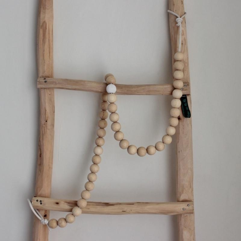 Woonketting Kraal 2,5 cm + 4 Clips