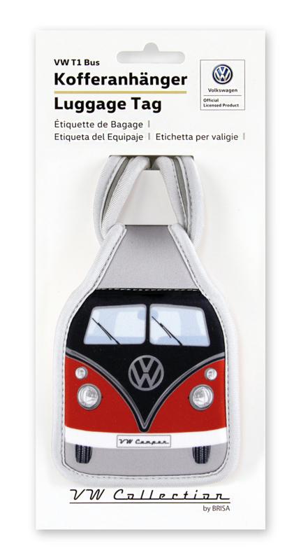 VW T1 Bus | Bagage Label | Rood/Zwart