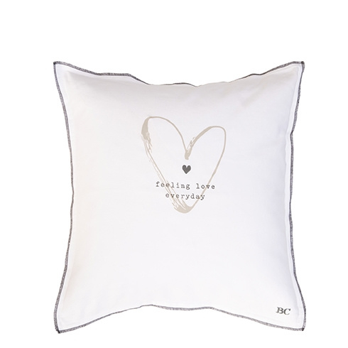 Kussenhoes Feeling Love | 50 x 50 | Wit | Bastion Collections