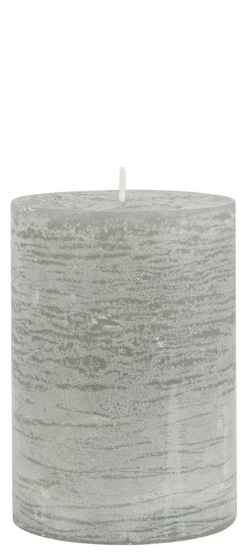 Rustieke Stompkaars   10 x Ø:7   Light Grey