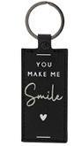 Sleutelhanger | You make me Smile | Zwart | Bastion Collections