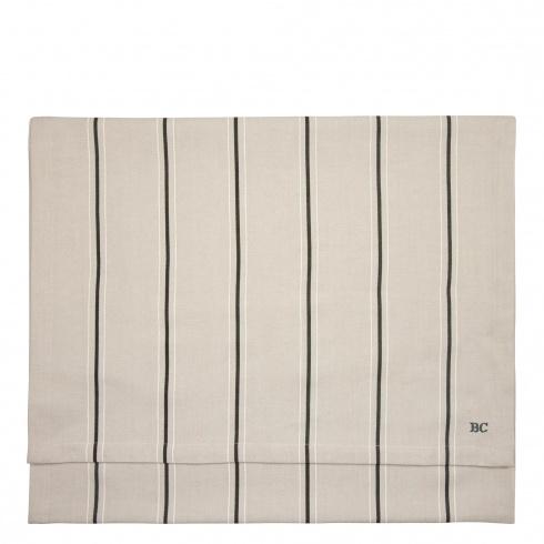 Tafelloper Runner   Stripes   50 x 160   Naturel/Black   Bastion Collections