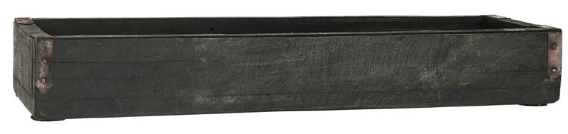 Box w/Metal Brackets UNIQUE | Zwart | 43x6x14 cm | IB Laursen