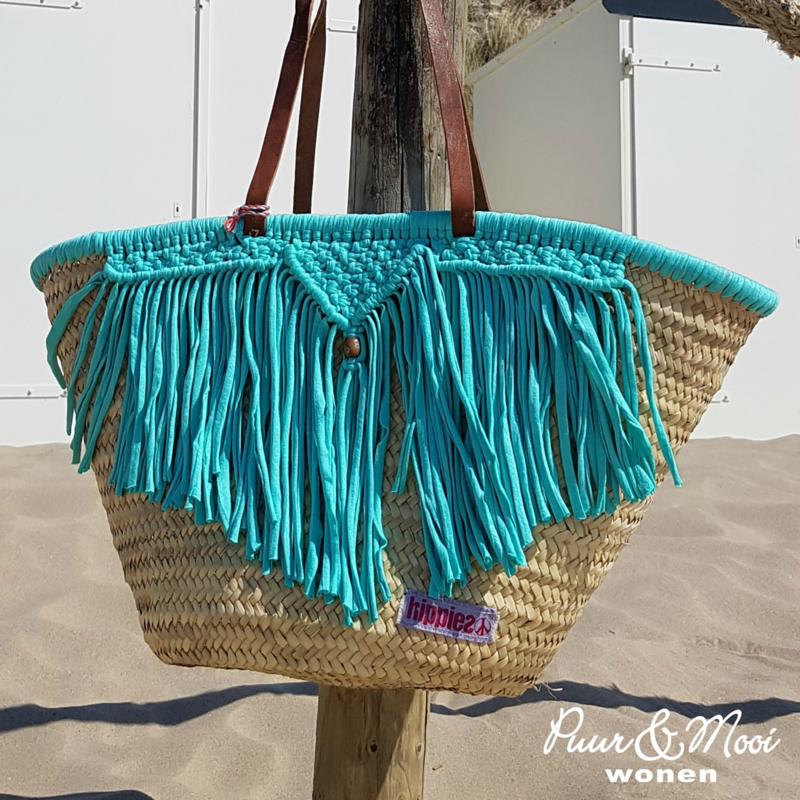 Ibiza Strandtas | Macrame | Turquoise | Hippies