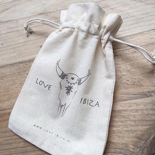 Cadeauzakje | Opbergzakje | Love Ibiza