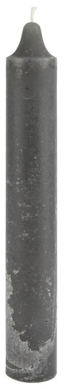 Kaars Rustiek Dark Grey   25 x Ø:3,8 cm   IB Laursen