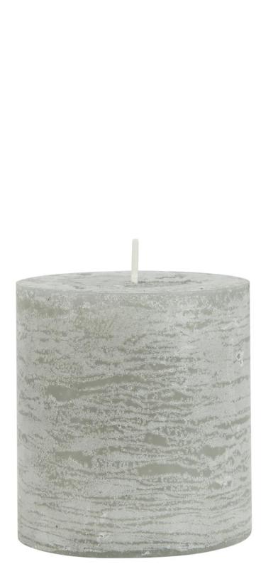 Rustieke Stompkaars | 7,5 x Ø:7 | Light Grey