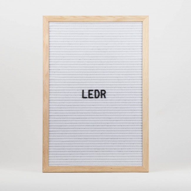 Letterboard L   30 x 45   Wit - Hout