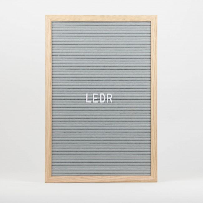 Letterboard L   30 x 45   Grijs - Hout