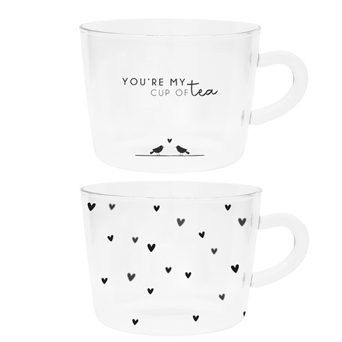 Thee Glazen | Youre my cup of Tea & Hearts | Set 2 | Bastion Collections