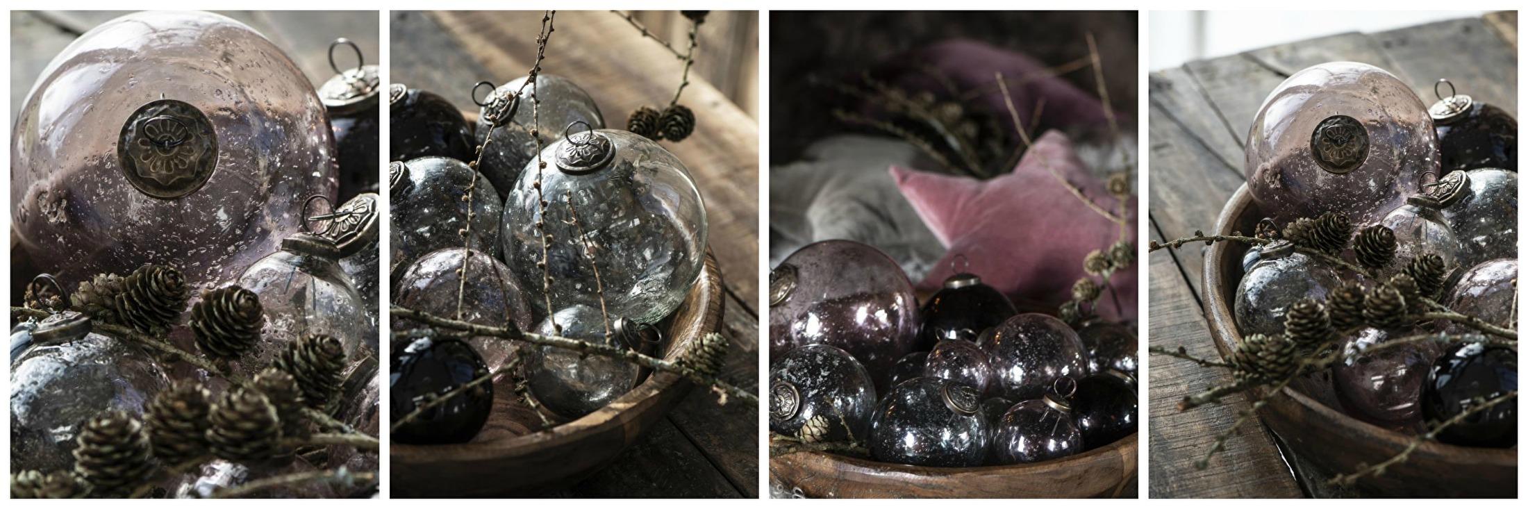 Kerst ornamenten glas