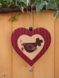Patroon hanger hart 'Vogel'