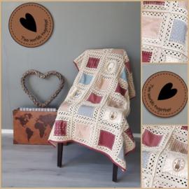 Patroon gehaakte deken