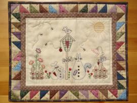 Patroon + materialenpakket quiltje 'Farmyard'