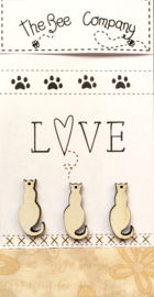 Love Cats creme - TBM26C