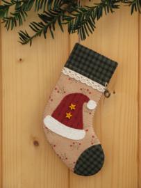 Patroon kerstsok 'Kerstmuts'