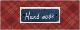 Houten label 'handmade' zwart