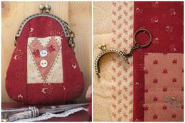 Patroon + materialen Portemonneetje 'Hartje' rood