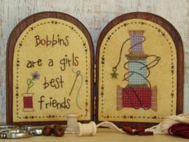 Tweeluikje 'Bobbins' materialenpakketje + patroon