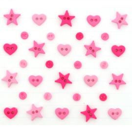 Micro Mini shapes multi hot pink