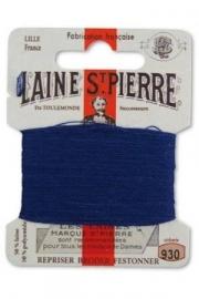 930 marmer blauw borduurwol