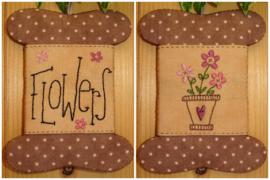 Patroon + materialenpakketje wikkelkaartje 'Flowers'