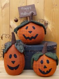 Patroon + materialen 'Halloween Pumpkins'