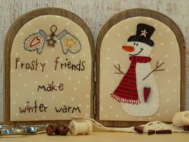Tweeluikje 'Frosty friends' materialenpakketje + patroon