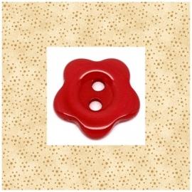 Rode bloem 15 mm