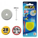 Olfa reserve rolmes 28 mm 2 stuks