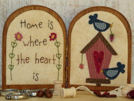 Tweeluikje 'Home is where the heart is' materialenpakketje + patroon