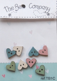 Mini assorted Hearts - TB1C