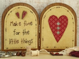 Tweeluikje 'Make time for the little things' materialenpakketje + patroon